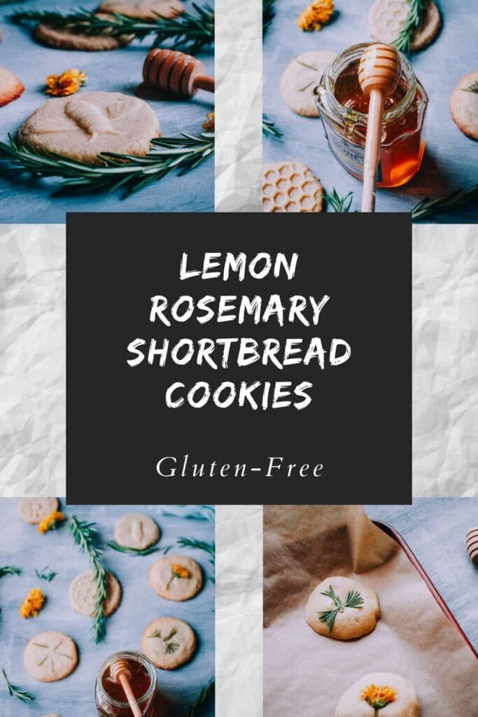 pinterest pin for rosemary cookies