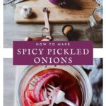 a pinterest pin for pickled onions