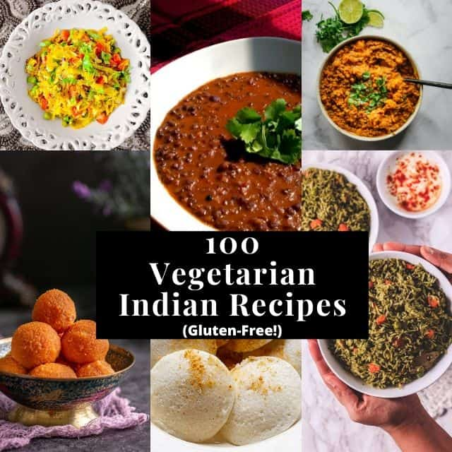 a six image grid for indian recipe roundup