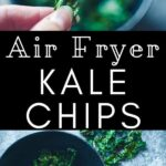 a pinterest pin for air fryer kale chips