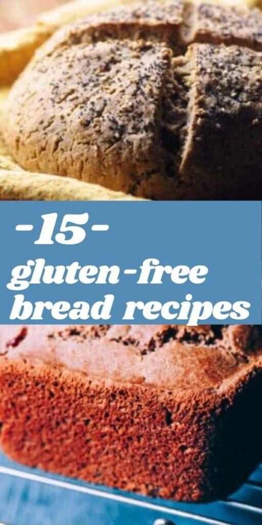 a pinterest pin for gluten free bread