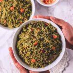 instant pot palak rice