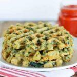 spinach feta waffles