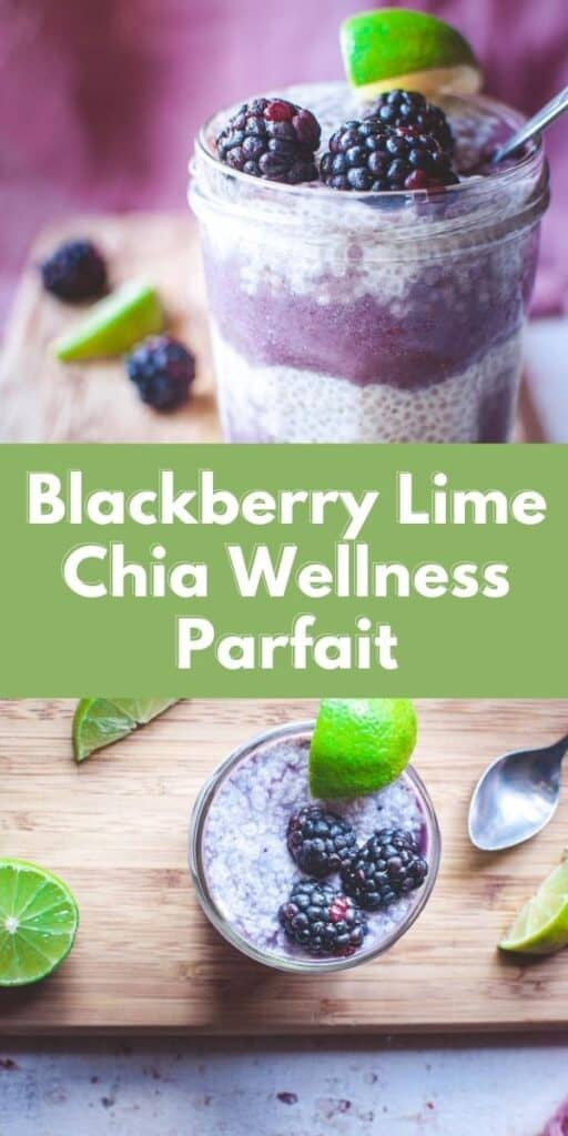 pinterest pin for chia seed parfait
