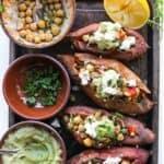 Mediterranean Stuffed Sweet Potatoes