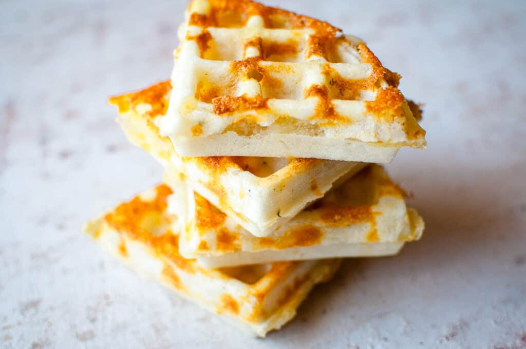 a short stack of waffles