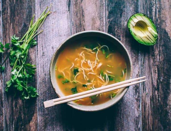 a bowl of ramen pho