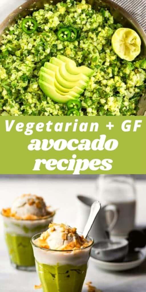 pinterest pin for avocado recipes