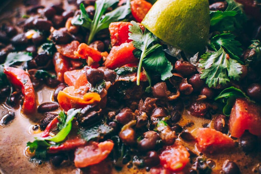 a close up shot of adzuki bean curry
