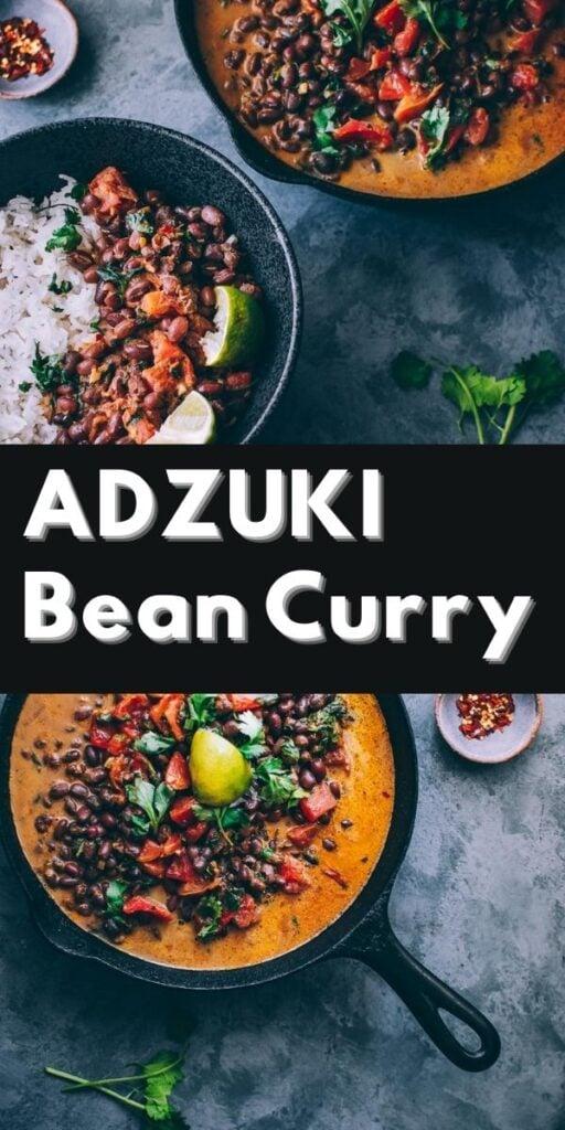 a pinterest pin for adzuki beans recipe