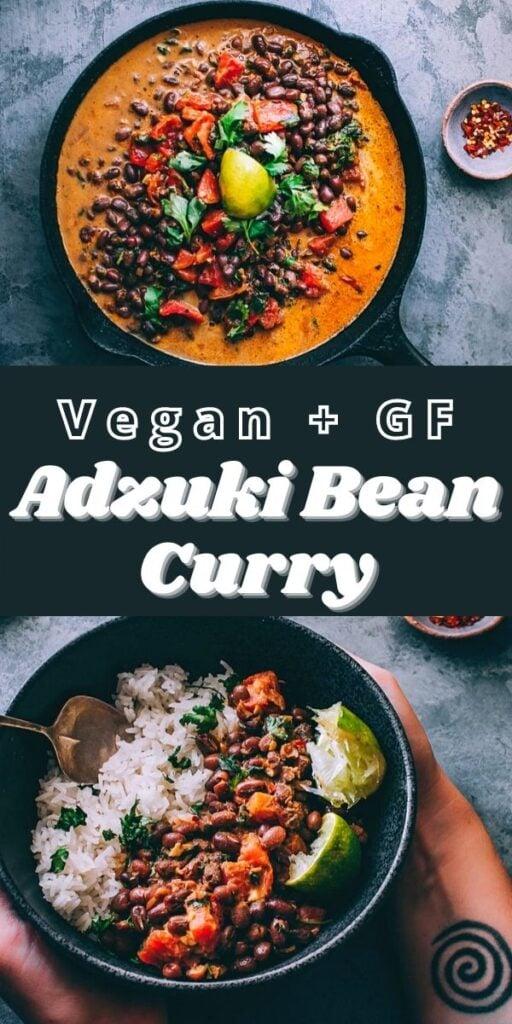 a pinterest pin for adzuki bean curry