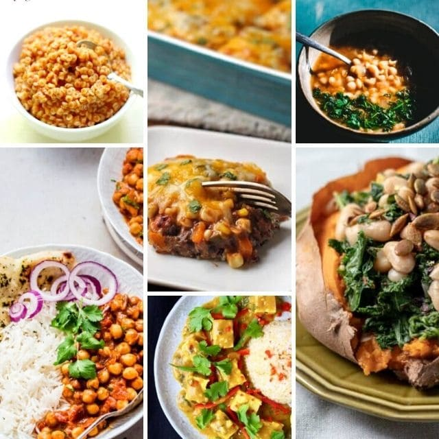 a pinterest pin for budget friendly vegetarian recipes