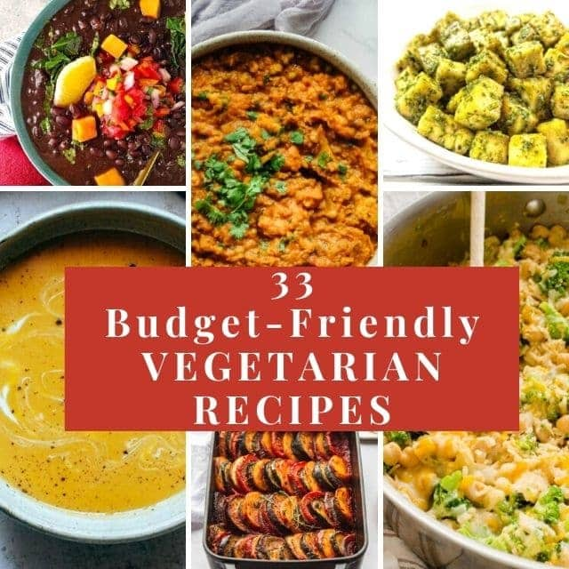 a pinterest pin for cheap vegetarian meals