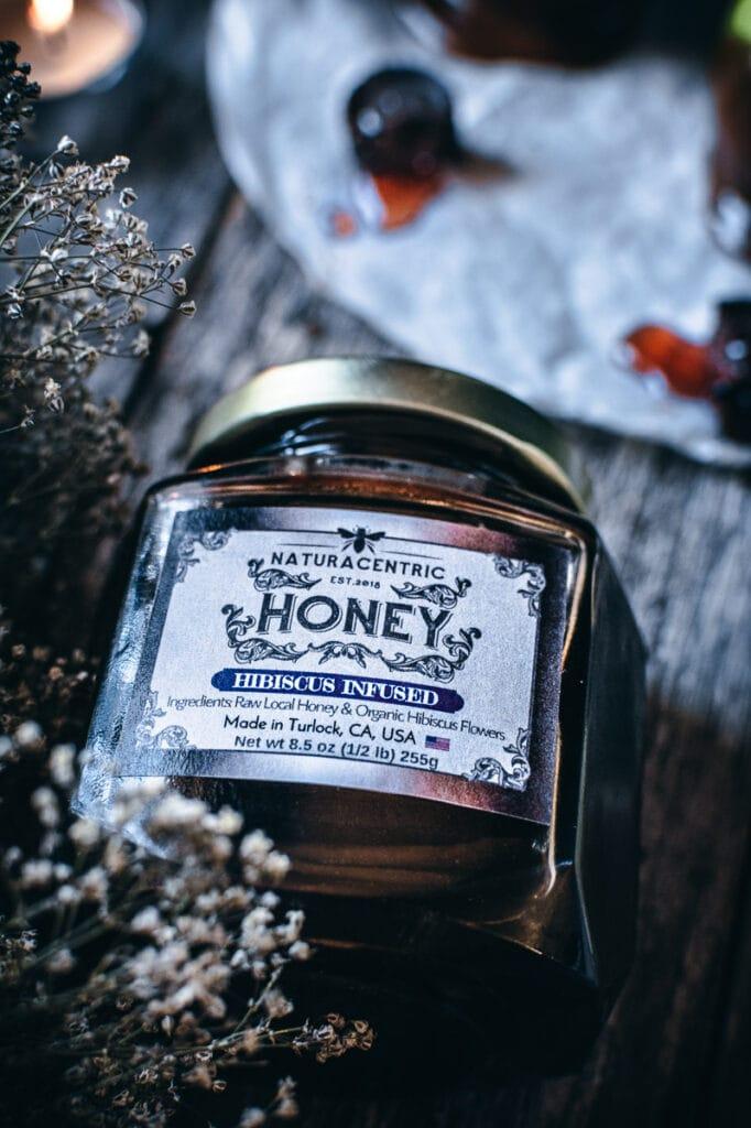 naturacentric infused hibiscus honey