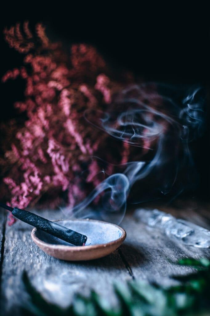 incense smoke photography