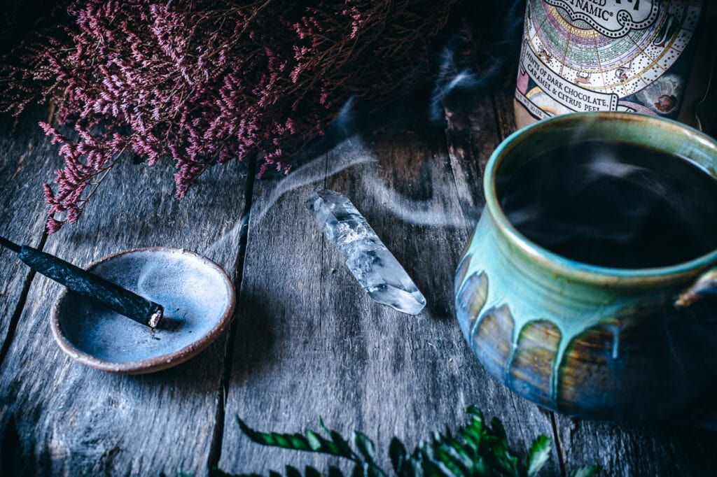 coffee and incense