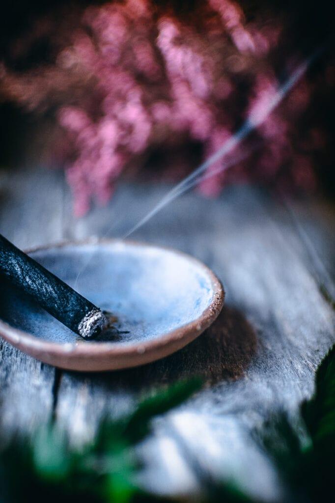 dark and moody incense smoke