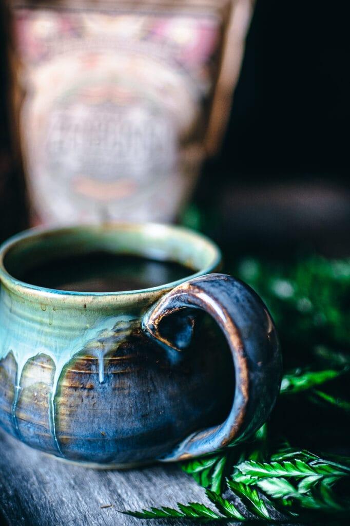 a ceramic mug