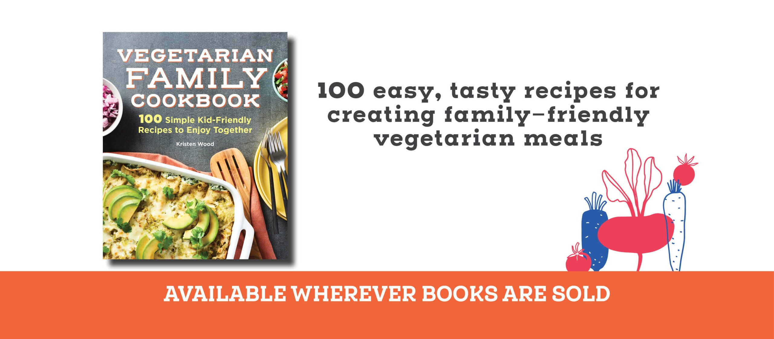 the vegetarian family cookbook banner