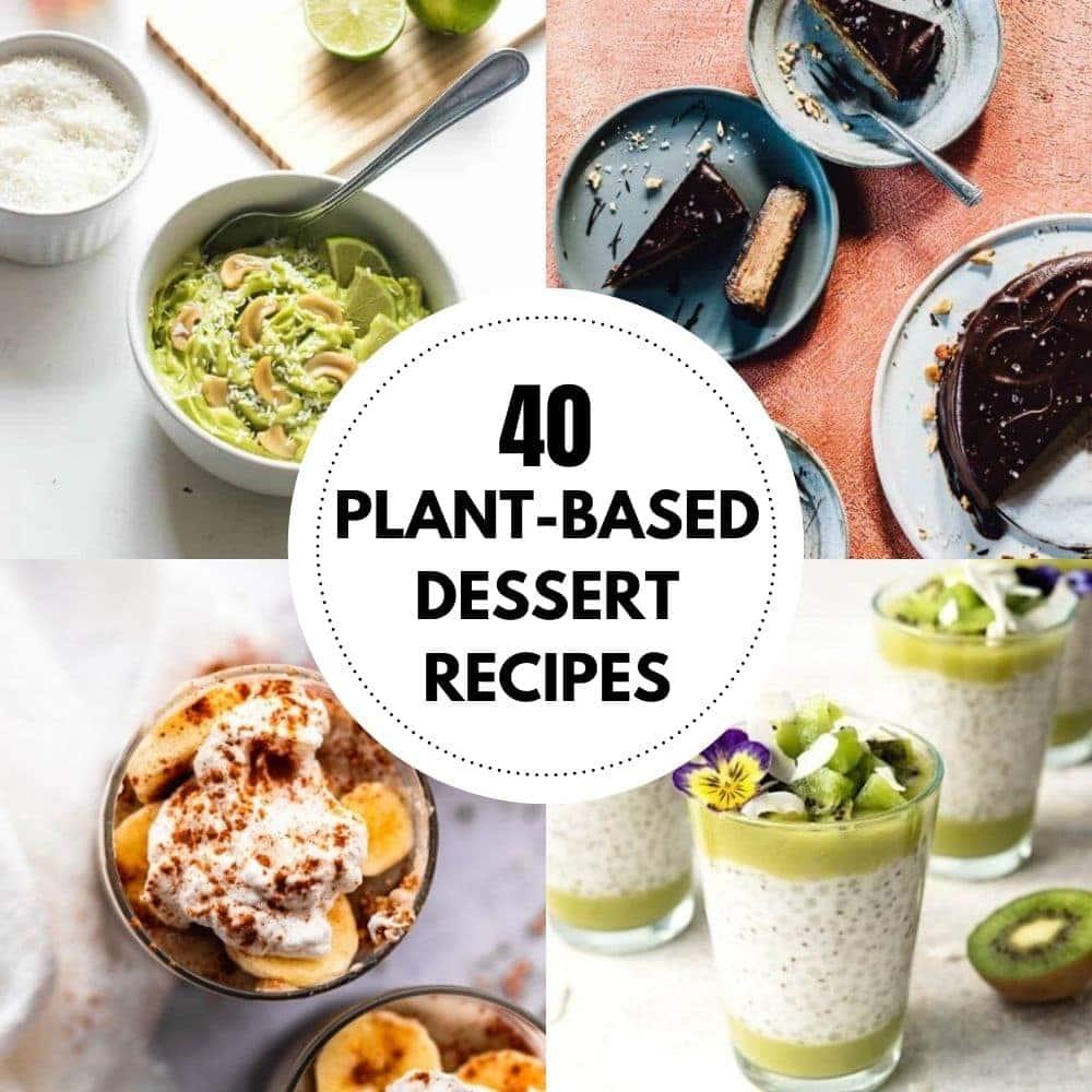 plant based desserts