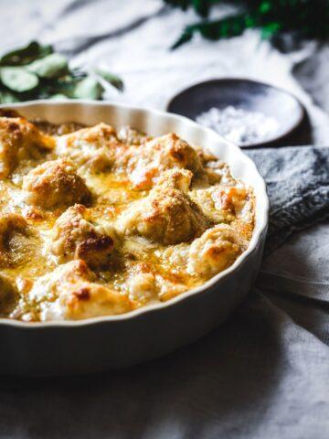 british gluten free cauliflower cheese dish