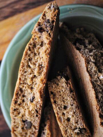 slices of gluten free irish soda bread for st patricks day