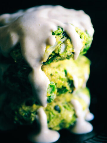 spring pea fritters recipe