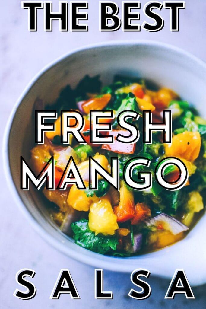 fresh mango salsa recipe pin