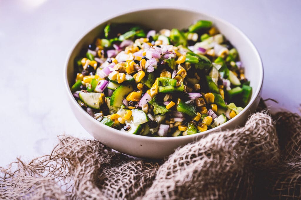 a colorful grilled corn salad perfect for summer
